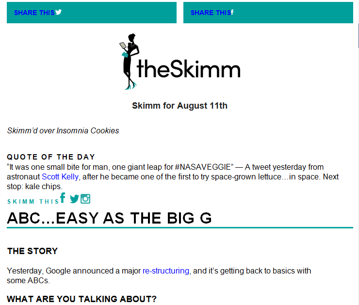 The Daily Skimm.