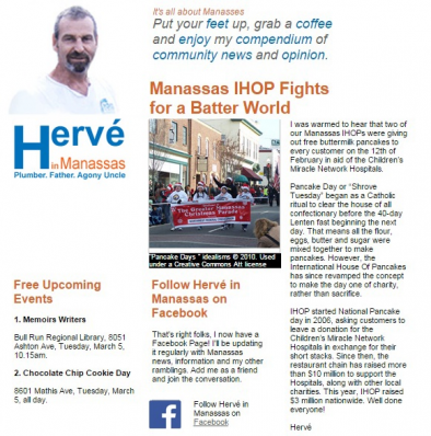 Newsletter of HMS Plumbing: tapping into the pride of Manassas