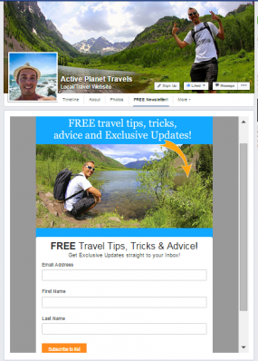 Active Planet Travels blog offers free travel tips and advice to email subscribers.