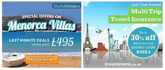 Bartle Holidays + InsureMore Remarketing Ads